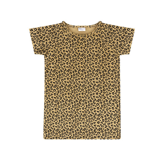 Maed for mini - Yellow Leopard Dress Short Sleeve (ss2019-51)